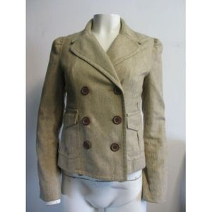MARC JACOBS tan blazer sz 6